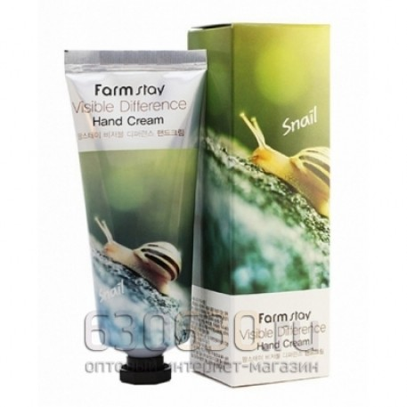 Увлажняющий крем для рук FarmStay Visible Difference Hand Cream Snail 100 g