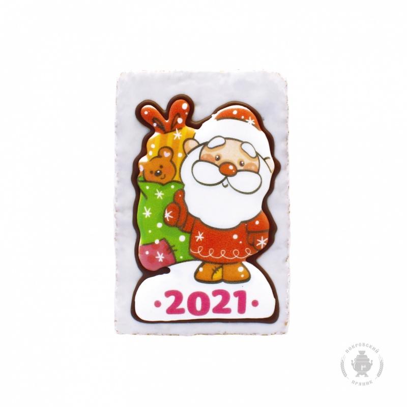 """Дед мороз с мешком подарков \""""2021\"""" (130 грамм)"""