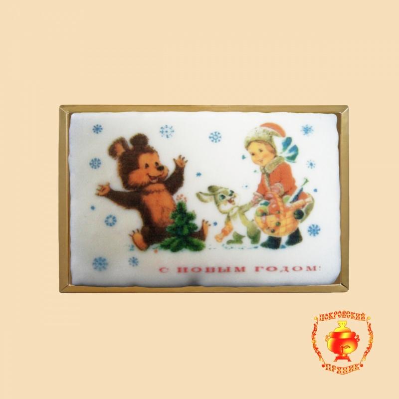 Новый год, мишка, девочка (700 грамм)