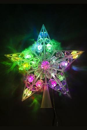 Электрогирлянда верхушка Звезда 22х22см YS-088