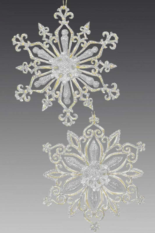 Снежинка прозрачно-золото-шампань 170200