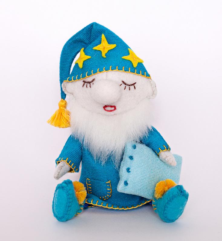 """Набор для изготовления текстильной игрушки из фетра арт.ПФГ-1557 \""""Гном Засоня\"""" 15,5 см"""