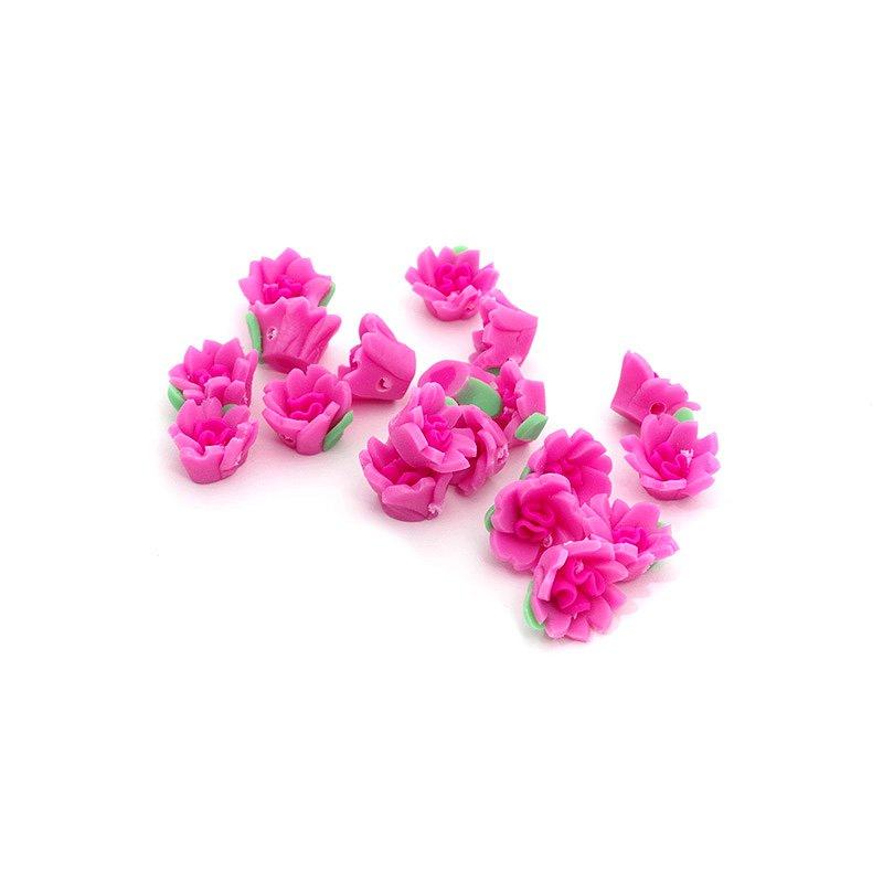 Бусины глиняные MAGIC HOBBY арт.F15-1 10мм, in Ø1 мм, уп.20шт цв.розовый/зеленый