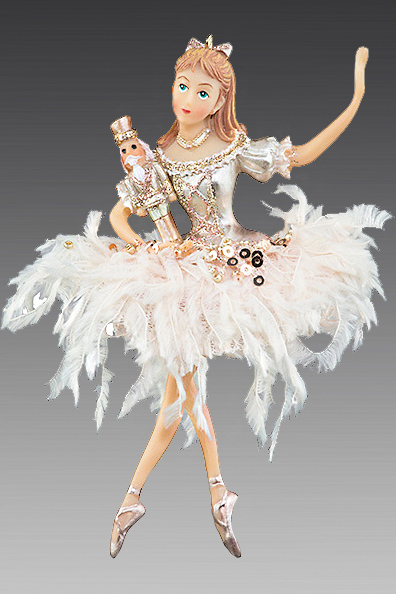 Балерина Щелкунчик в кремовой пачке 208090