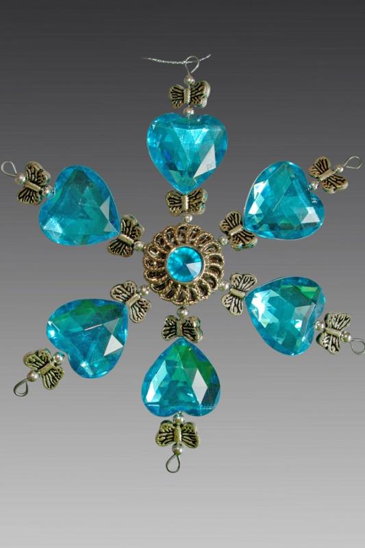 Снежинка серебряно-голубая 161602