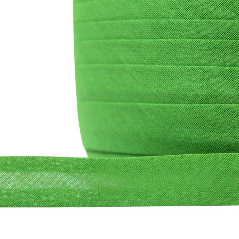 Косая бейка хлопок TBY арт.CB15 шир.15мм цв.F238 зеленый уп.132 м