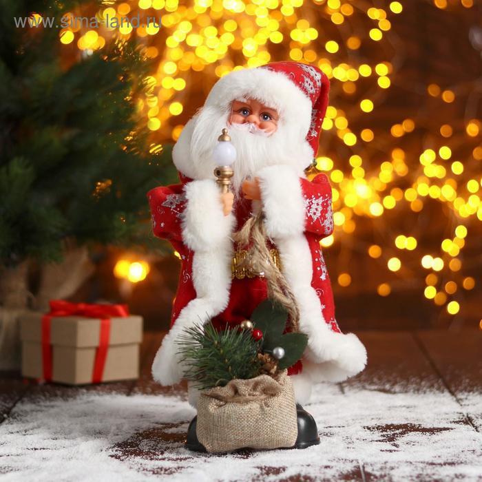 """Дед Мороз """"В красной шубке в ёлочках с подарками"""" 15х30 см"""