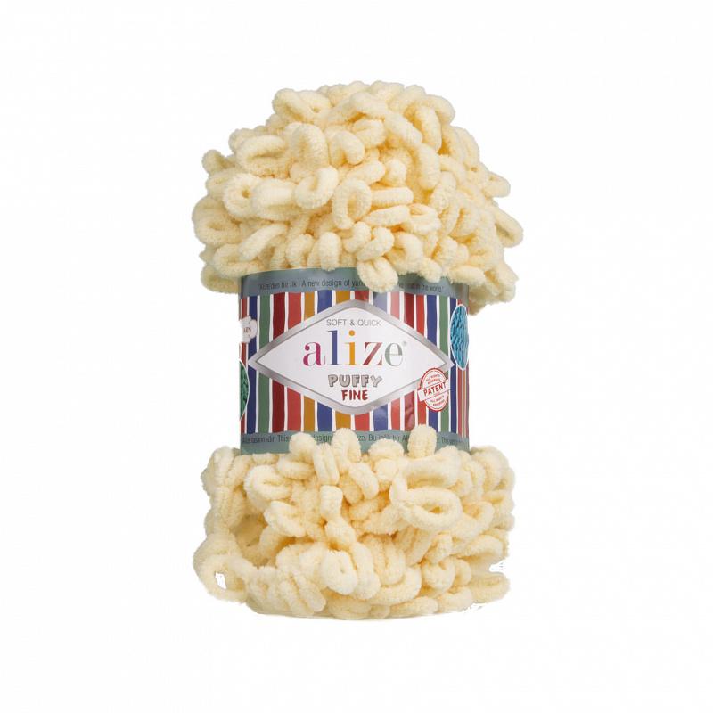 Пряжа для вязания Ализе Puffy Fine (100% микрополиэстер) 5х100г/14м цв.160 каменный