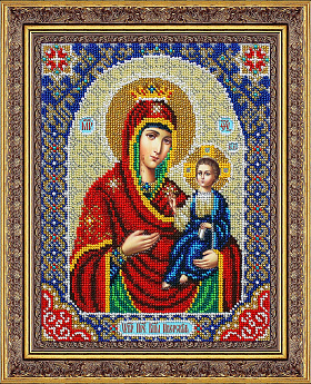 Набор для вышивания бисером ПАУТИНКА арт.Б-1093 Пр.Богородица Иверская 20х25 см