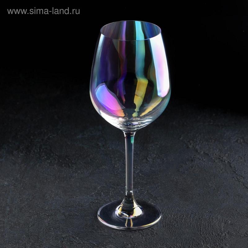 Бокал для вина «Родос», 400 мл, 8×20 см, цвет перламутровый
