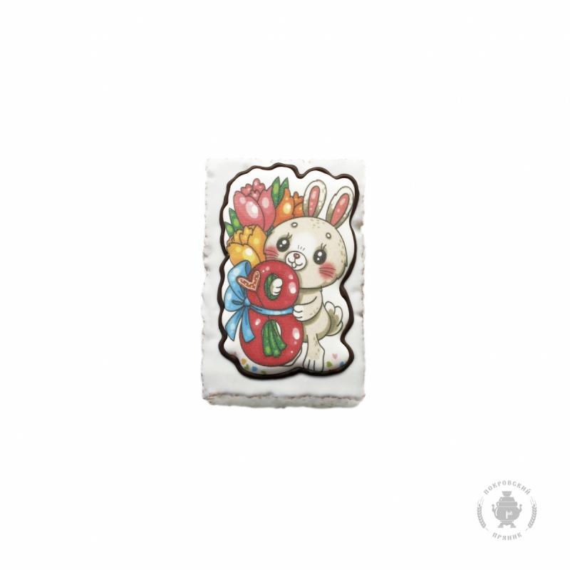 зайчик с цветами 130 гр