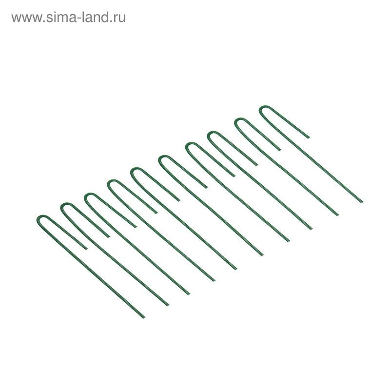 Колышек универсальный, h = 20 см, ножка d = 0.3 см, набор 10 шт., зелёный
