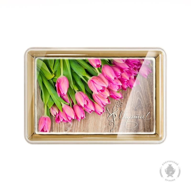 """Розовые тюльпаны \""""8 Марта\"""" (160 грамм)"""