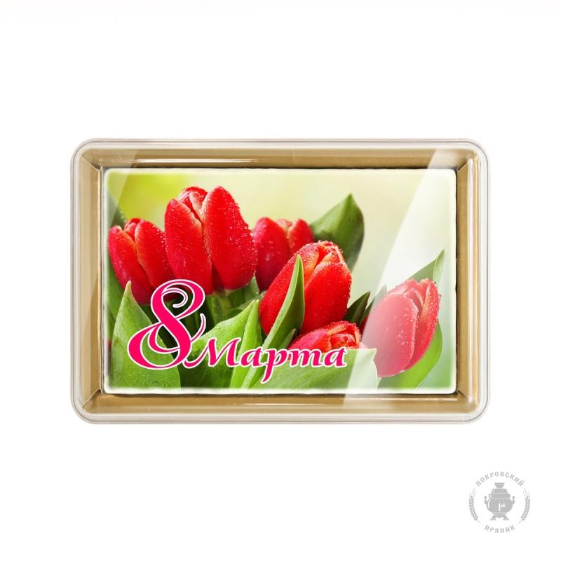 """Красные тюльпаны \""""8 Марта\"""" (160 грамм)"""