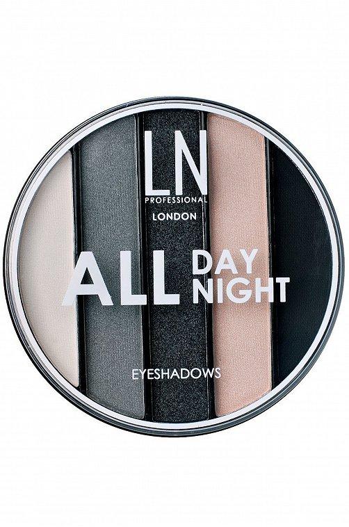 Набор теней для век 5 оттенков All Day All Night т.02 8,2 г LN Professional