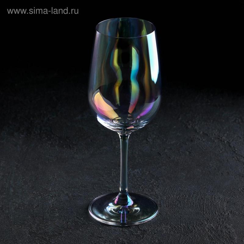 Бокал для вина «Родос», 350 мл, 8×20 см, цвет перламутровый