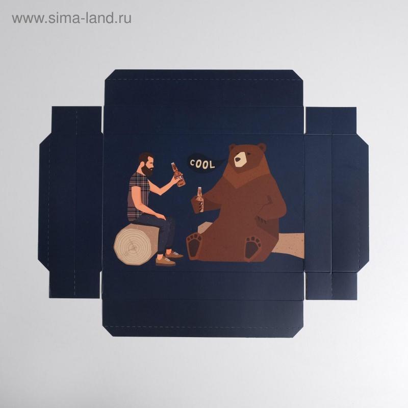 Коробка складная «Для настоящего мужчины», 30 × 20 × 9 см
