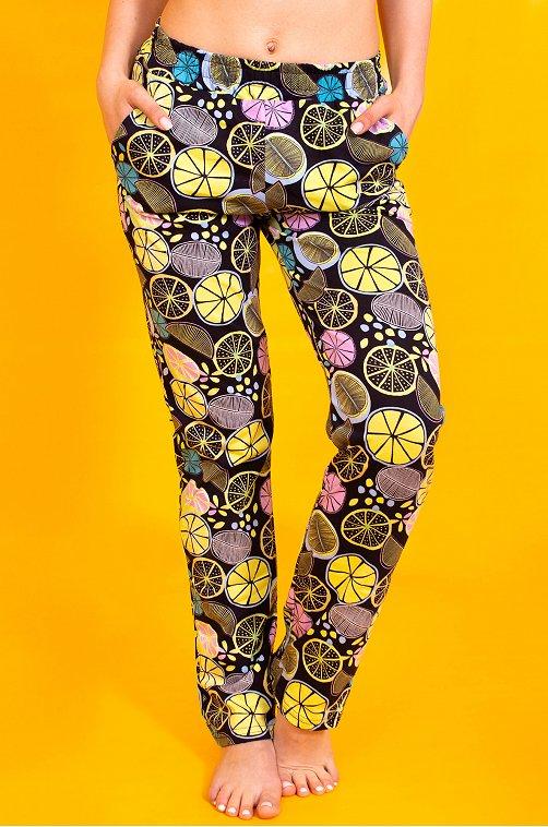 Женские брюки с принтом лимоны