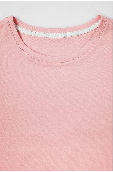 Классическая однотонная женская футболка