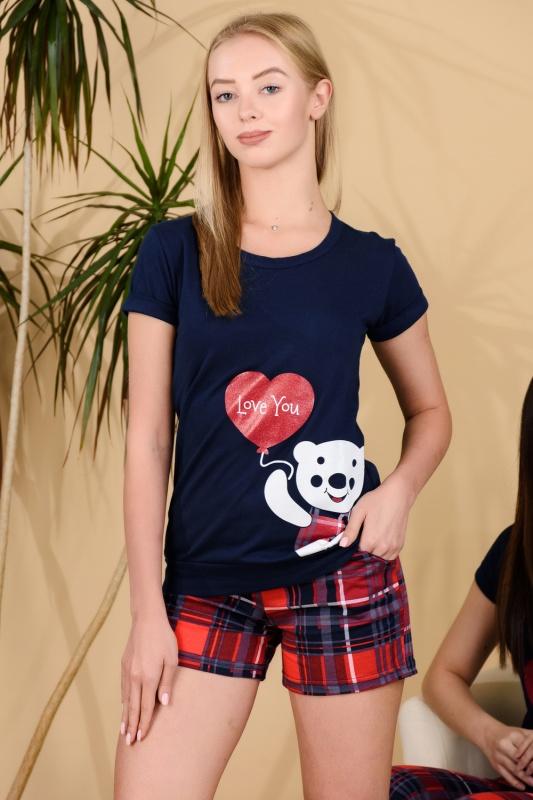 Женский костюм с шортами 25673